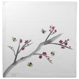 Blossoms and Bees Napkin