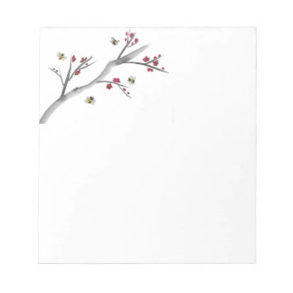 Blossoms and Bees Notepad