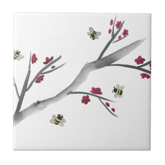 Blossoms and Bees Tile