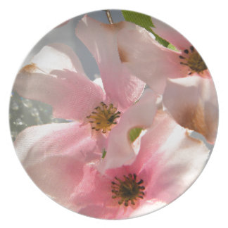 Blossoms and Crystal Party Plates