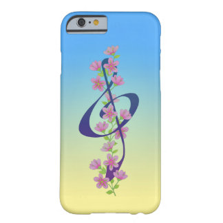 Blossoms and Treble Clef Barely There iPhone 6 Case