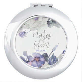 Blossoms & Berries Mother of the Groom ID476 A Compact Mirror