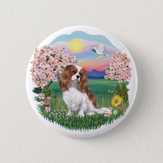 Blossoms - Blenheim Cavalier 6 Cm Round Badge