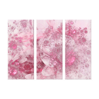 Blossoms Day Abstract Stretched Canvas Print
