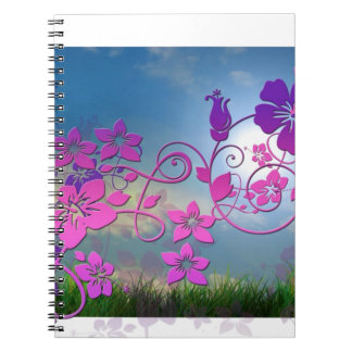 Blossoms Flowers Spring Summer Peace Love Destiny Note Books