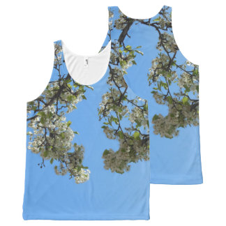 Blossoms in the Sky All-Over Print Singlet