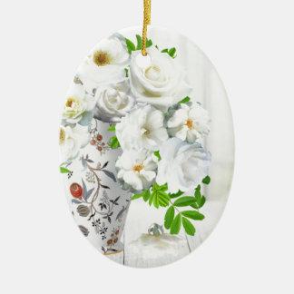 Blossoms romantic date flower flowers love plants ceramic oval decoration