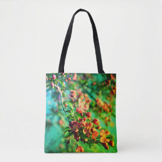 Blossoms - Spring Green Tote Bag