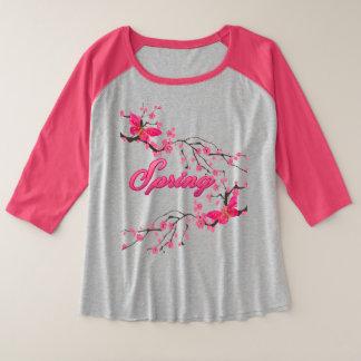 blouse spring plus size raglan T-Shirt
