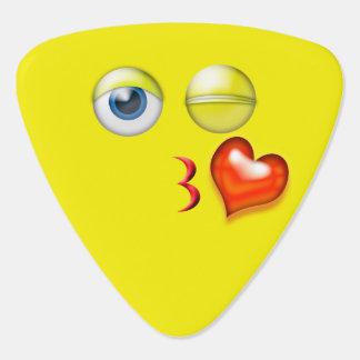 Blow A Kiss Emoji Plectrum