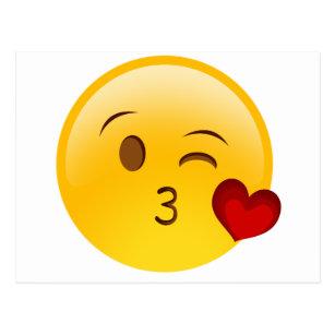 90745e4c948 Blow a kiss emoji sticker postcard