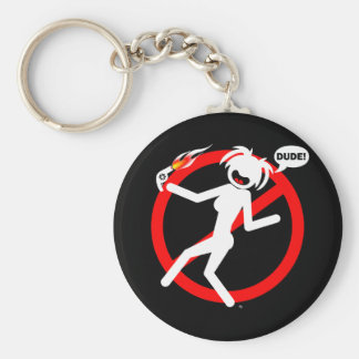 Blow-dryer hazard Buttons and Magnets Key Ring