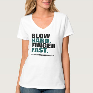 Blow Hard Finger Fast Flute Band Tees