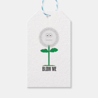 Blow me dandelion gift tags