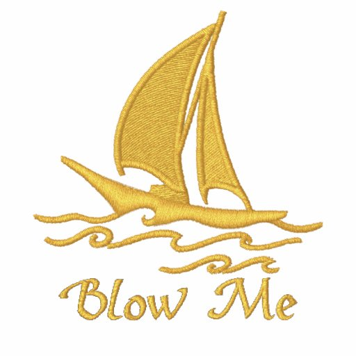 Blow Me Embroidered Polo Shirt