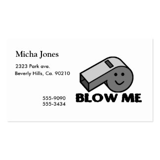 Blow Me Whistle Pack Of Standard Business Cards