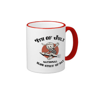 Blow Stuff Up Day Ringer Mug