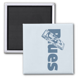Blow The Blues Square Magnet
