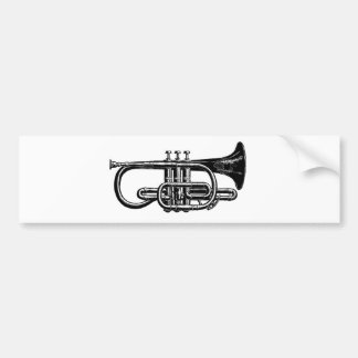 Blow your Horn: Imperial Cornet Musical Instrument Bumper Sticker