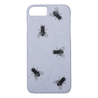 Blowflies on the Wall (Periwinkle Plaster) iPhone 7 Case