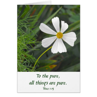 Blowin` in the Wind - Purity Greeting Card