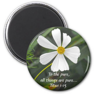 Blowin` in the Wind - Purity 6 Cm Round Magnet