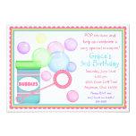 Blowing Bubbles BIrthday Invitations