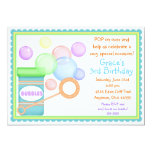 Blowing Bubbles BOY BIrthday Invitations