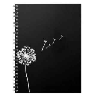 Blowing Dandelion Spiral Notebook