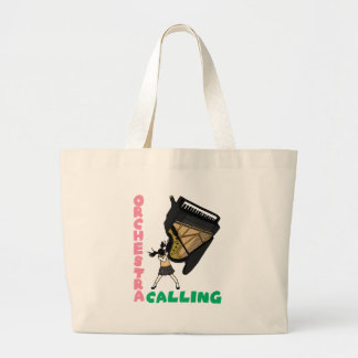 Blowing easy crash _piano large tote bag
