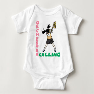 Blowing easy crash _saxophone baby bodysuit