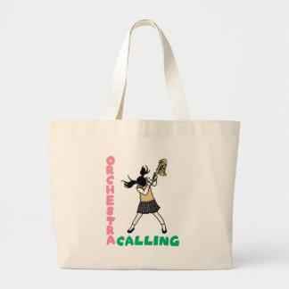 Blowing easy crash _saxophone large tote bag