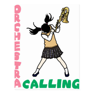 Blowing easy crash _saxophone postcard