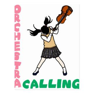 Blowing easy crash _violin postcard