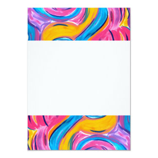 Blowing In The Wind - Abstract Art 11 Cm X 16 Cm Invitation Card