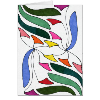 """""""Blowing in the Wind"""" Abstract Greeting Card"""