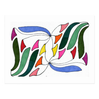 """""""Blowing in the Wind"""" Abstract Postcard"""