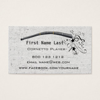 Blowing Musical Notes Cornett Cornetto Zink Business Card