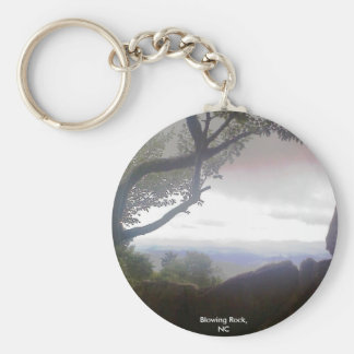 Blowing Rock, NC Basic Round Button Key Ring