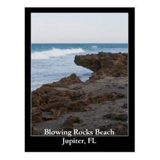 Blowing Rocks Beach Jupiter, FL Postcard