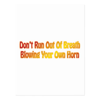 Blowing Your Own Horn Post Cards