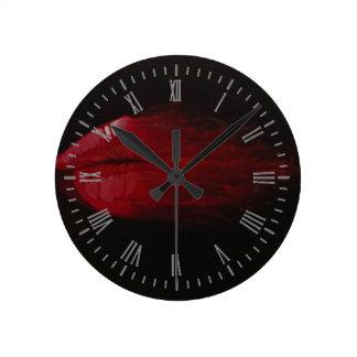 Blown Away Round Clock