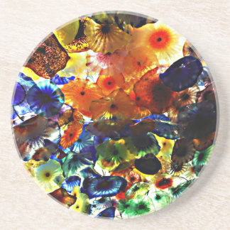 Blown Glass Sandstone Coaster