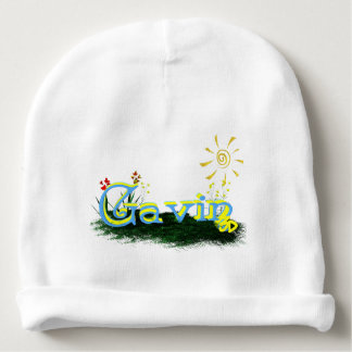 Blox3dnyc.com Grass patch design. For Gavin Baby Beanie