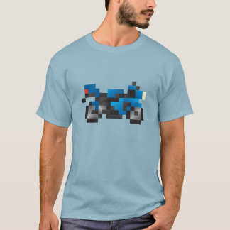 Bloxels Blue sport Motorcycle T-Shirt