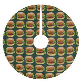 BLT Burger Food Pattern Christmas Tree Skirt