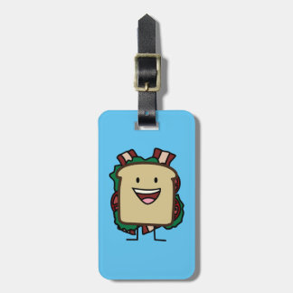 BLT Sandwich Bacon Lettuce and Tomato Foods Design Luggage Tag