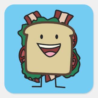 BLT Sandwich Bacon Lettuce and Tomato Foods Design Square Sticker