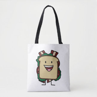 BLT Sandwich Bacon Lettuce and Tomato Foods Design Tote Bag