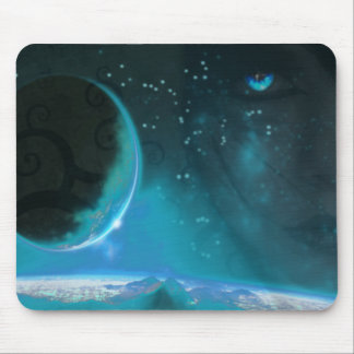 Blu Eyed World Mouse Pad